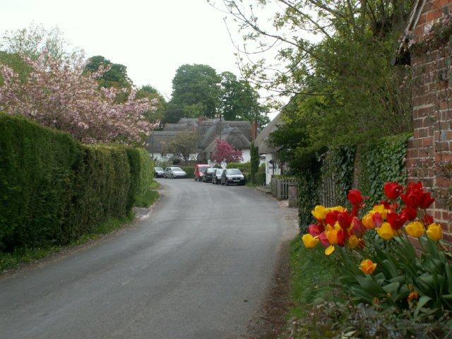 Chilbolton - Village Street towards Stocks Green