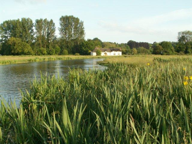 Chilbolton Common - River Test and The Old Cottage