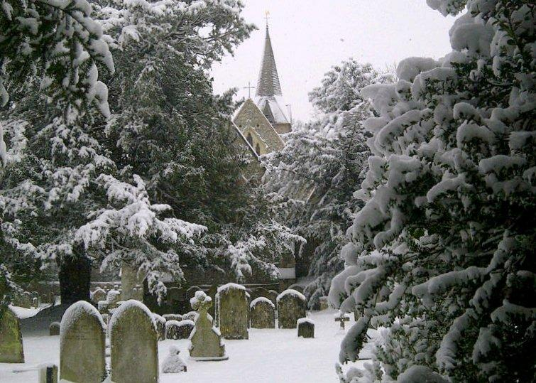 Wherwell - Church in Winter